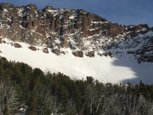 Goat triggered avalanche in Hyalite