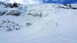 Snowmobile triggered avalanche at Lionhead