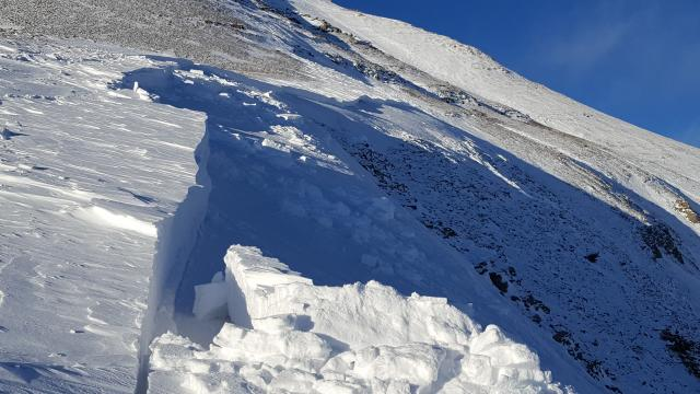 South Face of Lone Peak avalanche