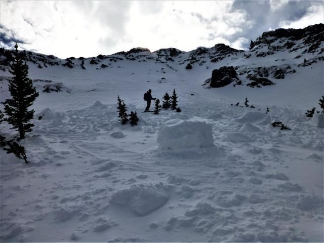 Avalanche Debris, Mt Blackmore