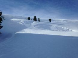 Small human triggered avalanches - Buck Ridge