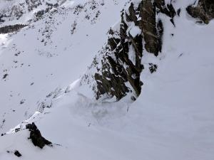 View from the top of the couloir