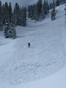Skier triggered avalanche at Bridger