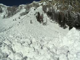 Yellowstone Club Wet Slab Avalanche