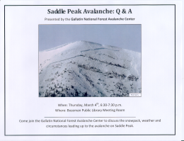 Saddle Peak Avalanche: Q&A