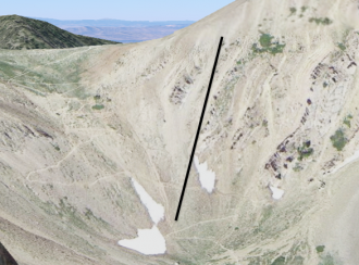 Location of Sacajewea Avalanche